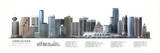 Vancouver Illustrated Panorama Skyscraper Poster Print Affiches