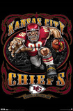 Kansas City Chiefs (Mascot, Grinding It Out Since 1960) Sports Poster Print Prints