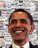 Barack Obama Headlines Art Print Poster Reprodukcje