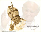Pope John Paul II (Waving Goodbye) Art Poster Print Prints