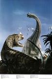 Brachiosaurus and Ceraton Prehistoric Dinosaur Print Poster Posters