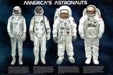America's Astronauts Educational Science Space Chart Poster Print Posters