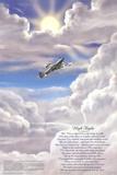 High Flight Poem Military Educational Chart Poster Plakat