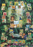 Tropical Rainforest Animal and Plant Chart Poster Pôsteres