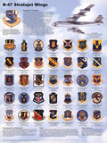 B-47 Airplane Stratojet Wings Educational Military Chart Poster Prints