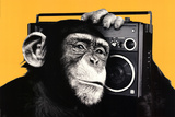 The Chimp Boombox Art Print Poster Poster