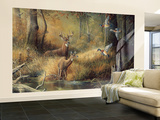 October Memories Deer Ducks Hunting Wallpaper Mural
