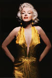 Marilyn Monroe (Gold Dress, Tinted) Movie Poster Print Planscher