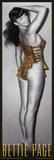 Bettie Page Leopard Plakater