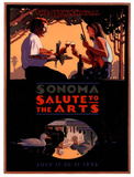 1996 Sonoma Salute to the Arts Art Print Poster Posters