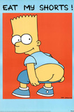 The Simpsons Eat My Shorts Bart TV Poster Posters