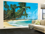 South Sea Beach Landscape Huge Wall Mural Art Print Poster Bildtapet (tapet)