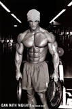 Jason Ellis Dan with Weights Art Print Poster Reprodukcje