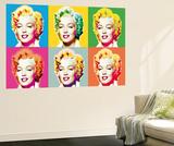 Marilyn Monroe Pop Art by Wyndham Boulter Mini Mural Huge Movie Poster Print Fototapeta
