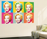 Marilyn Monroe Pop Art by Wyndham Boulter Mini Mural Huge Movie Poster Print Bildtapet (tapet)
