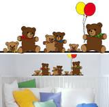 Teddy Bears 14 Wall Stickers Muursticker