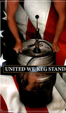 United We Keg Stand (Beer, Flag) Art Poster Print Prints