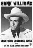 Hank Williams (Long Gone Lonesome Blues) Music Poster Print Posters