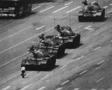Tiananmen Square Man and Tanks Glossy Photo Photograph Print Photo
