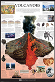 Volcanoes Dorling Kindersley Educational Poster Print Posters