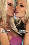 Lesbian Kiss Jenna Jameson and Krystal Steal Sexy Photo Poster Print Prints