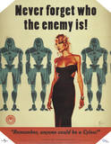 Battlestar Galactica Never Forget Who the Enemy Is! TV Poster Print Print