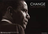 Barack Obama (Change Can Happen) Art Poster Print Prints