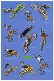 Freestyle Motocross (Riders in Air, FMX) Sports Poster Print Kunstdruck