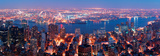 Manhattan Skyline Aerial View Panorama with Brooklyn and Hudson East River-New York Prints by Songquan Deng