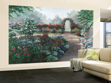 Serenity Flower Garden Wallpaper Mural