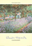 Claude Monet The Artist's Garden at Giverny Art Print Poster Prints