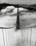 Misty Morning (Golden Gate Bridge) Art Poster Print Poster