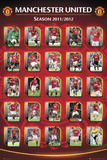 Manchester United FC 2011-12 Squad Profiles Sports Poster Print Prints