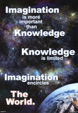Imagination Earth Motivational Poster Print Posters