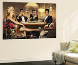 Four of a Kind Marilyn Monroe James Dean Elvis Presley Humphrey Bogart Mini Mural Huge Poster Wallpaper Mural