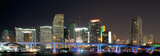 Downtown Miami Skyline at Night-Miami, Florida Posters by Philip Lange