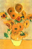 Vincent Van Gogh Vase with Fifteen Sunflowers Art Print Poster Print