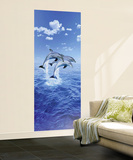 Steve Bloom Three Dolphins Mural Wallpaper Mural