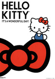 Hello Kitty It&#39;s a Wonderful Day Art Print Poster Posters