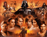 Star Wars Movie Saga 3-D Lenticular Poster Print Print