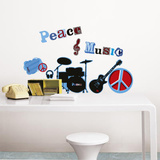 La Cocotte Peace & Music Wall Stickers Wall Decal