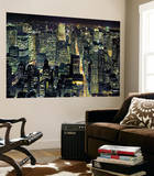 New York City from Empire State Building by Henri Silberman Mini Mural Huge Poster Art Print Wallpaper Mural