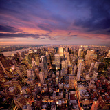 Big Apple after Sunset-Manhattan-New York Prints by Ilja Mašík