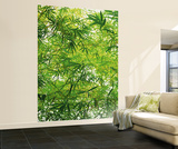 Bamboo Leaves Huge Wall Mural Art Print Poster Wallpaper Mural