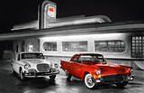 Route 66 Diner Art Print Poster Prints