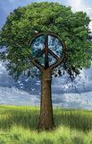 Peace Tree Art Print Poster Posters