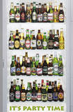 Beer Bottles It's Party Time Art Poster Print Posters