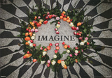 Imagine Central Park Mosaic John Lennon Memorial 3-D Lenticular Music Poster Print Póster