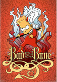 The Simpsons Bart Bad to the Bone TV Poster Print Photo