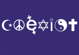 Coexist Symbols Motivational Poster Print Posters